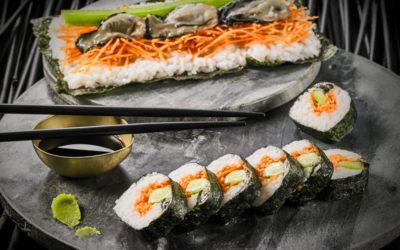 Maki-Sushi aux huitres et concombre