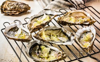 Huîtres acidulées au barbecue